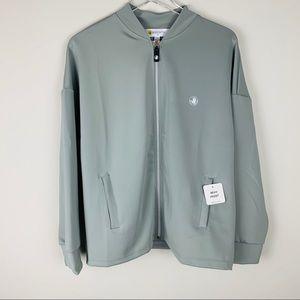 Body Glove Altheisure zipper top light grey jacket